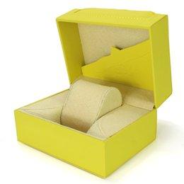 Argentina Cajas de relojes de lujo Cajas de relojes de madera amarillas Tarjeta de papeles Para hombre Para Cajas de relojes Relojes para mujer Suministro