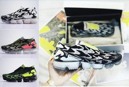Wholesale free for sale - 2018 New ACRONYM x VAPORMAX MOC 2 Black Green Men7women casual shoes For Sale Athletic Sneakers Free shipping