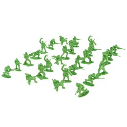 Argentina 100 piezas de soldados de juguete - 3 cm. Figuras de acción de los hombres del ejército para accesorios de modelo de escena de arena con banderas varias posturas - Verde supplier green soldier toys Suministro