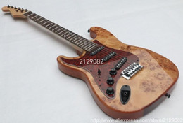 2019 gitarre linkshändig Chinesische hochwertige benutzerdefinierte Gitarre Top Qualität Baum Tumor Tremolo ST 6 Saiten linke Hand E-Gitarre Chrom kostenloser Versand günstig gitarre linkshändig