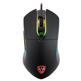 Wholesale Mouse Optical Gamer - Motospeed V30 RGB Programming 3500 DPI Gaming Gamer Mouse USB Computer Wried Optical Mice Backlit Breathing LED for PC Game