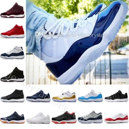 Wholesale green blue sapphire - Wholesale 2018 11 XI Wheat Sapphire Heiress Space jam men basketball shoes womens sneakers women high quality cheap size US 5.5-13 Eur 36-47