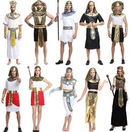ägyptisches cleopatra kostüm Rabatt Halloween Kostüme Ägyptische Pharao Cleopatra Prince Prinzessin Kostüm Jungen Mädchen Alte Ägypten Cosplay Kleidung Party Supplies GGA1260