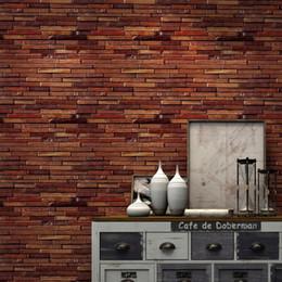 2019 pintura a óleo fundo preto Papel de parede de imitação de madeira estilo chinês Bar restaurante quarto sala TV fundo papel de parede rolo