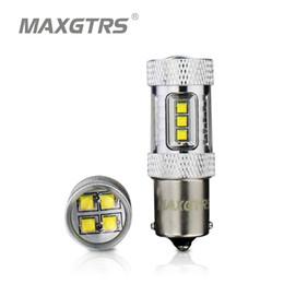 cree rojo bombillas led Rebajas 2x Alta Potencia S25 1156 BA15S P21W 30W 50W 80W CREE Chip XBD LED Reversos de reversa de reserva de reversa de luces de automóvil blanco / rojo / amarillo
