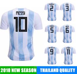 Wholesale Football Nation - 2018 Argentina Soccer Jersey MESSI cup AGUERO DI MARIA MASCHERANO HIGUAIN calcio fútbol football NATION TEAM national world russia