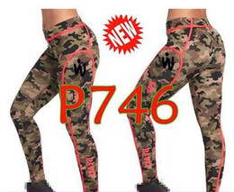 pantalon de yoga de l'armée Promotion pantalon de danse femme pantalon de yoga Leggings Armed Piped Ankle Long Leggings P746