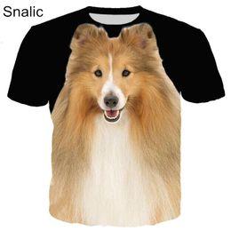 b882872a1b cão 3d camiseta Desconto Snalic Moda Animal 3D Animal de Estimação Cão Gato  Impressão Homens Mulheres