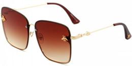 Lente de tamaño online-hombres mujeres piloto clásico gafas de sol diseñador de marca oro negro cristal verde gafas de sol lente de cristal 3 tamaño en original 2200
