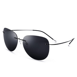 76ab632308 Vazrobe Rimless Titanium Sunglasses Men Women Polarized Driving Sun Glasses  for Man Woman Ultra-light Foldable Sunglass UV400 cheap lighted sunglasses