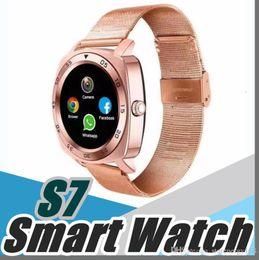 Canada 1X Acier Full Round Électronique Smart Watch X3 S7 Moniteur Intelligent Sommeil Tracker Dispositifs Portables pour Apple Androld Iphone Smartwatch U-BS Offre