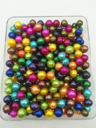 Wholesale huge round pearls - Mixed Colors A Grade 9-11mm Rainbow Colored Edison Loose Pearls Round Big Huge Large Pearl Edison Pearls
