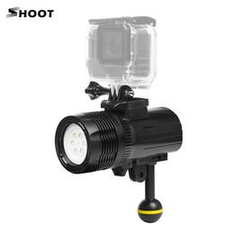 Luces de video bajo el agua online-venta al por mayor XTGP460 1500 Lumen buceo submarino a prueba de agua 60 m / 197 pies LED luz de vídeo para GoPro Hero 6/5/4/3 + / 3 cámara de acción
