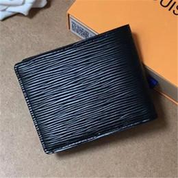 2019 billetera azul Famosa Marca de Moda Negro / Azul Corto Para Hombre Mujer Carteras Bolsos de Cuero de LA PU Titulares de Tarjetas Bolsas de Dinero Carteras de Negocios 11.5 cm Bolsas de Dinero billetera azul baratos