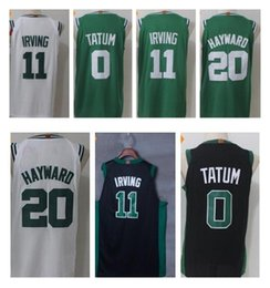 Wholesale Al Jerseys - 2017-18 New 11 Kyrie Irving Jersey 20 Gordon Hayward 0 Jayson Tatum 42 Al Horford 7 Jaylen Brown White Black Green Basketball Jerseys