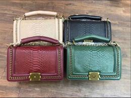 Wholesale Vintage Bamboo Handbag - New Arrival High quality V handbag outer lock logo Women's le boy vintage Quilted chain bag Lambskin Black leboy women's flap bag