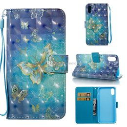 Wholesale Dreamcatcher Design - 36 designs 3D Dreamcatcher Wallet Leather Flower Don't Touch My Phone tower deer Stand ID Card Case for iphone X Samsung S9 PLUS NOTE 8