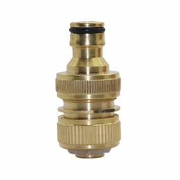 """Wholesale Water Quick Connector - 10 sets 3 4"""" Female Thread Quick Connector joint with 3 4"""" Male thread connection Car washing fittings Garden water connectors"""