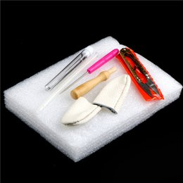 Canada Portable aiguille feutrage outil de démarrage ensemble aiguille en feutre de laine bricolage kit de fabrication d'aiguilles cylindre doigt Ciseaux avec sac de rangement Offre