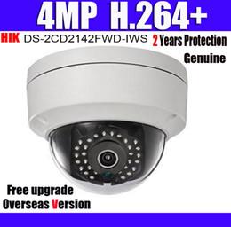 Correction de carte sd en Ligne-DS-2CD2142FWD-IWS 4MP POE H.264 + Fente pour carte SD Intégrée Wi-Fi CCTV Caméra IP Dôme WDR Fixe IP67 IK10 Caméra réseau avec logo