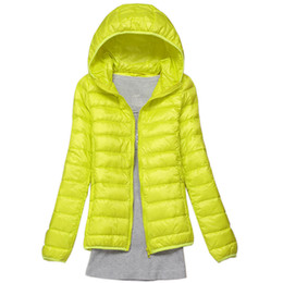 women winter brand parka Promo Codes - Winter Women Down Jacket Ultra Light Down 90% White Duck Coat Jacket ladies' Hooded Parkas Quality Brand Spring Autumn