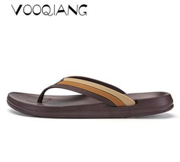 новые мужские тапочки Скидка VOOQIANG  Genuine Leather Shoes Summer New Large Size Men's Sandals Men Sandals Fashion Sandals And Slippers Big Size 40-44