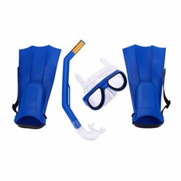 Wholesale Diving Breathing - Children Kids Swimming Kit Diving Mask Breathing Tube Fins Water Sports Diving Rubber Security Swimming Glasses