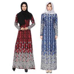 2018 Mode Nouveau Abaya Musulman Robe Robe Femmes Islam Imprimé Caftan Marocain Vêtements Turc Vêtements Turquie Musulmane Robe Dubaï robes ? partir de fabricateur