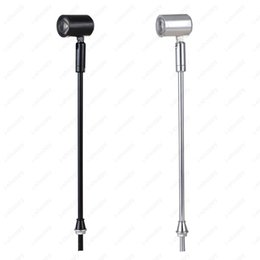 Wholesale wholesale led lighted pictures - 3W LED Picture Light Desk Lighting Stand Pole Lamp Spotlight Museum Jewelry Phone Shop Silver Black Shell