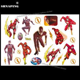 padrões de tatuagem de pé Desconto SHNAPIGN O Flash de Super-heróis Criança Tatuagem Temporária Body Art Flash Do Tatuagem Adesivos 17 * 10 cm À Prova D 'Água Car Styling Adesivo Falsa