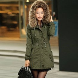 Wholesale Quilt Coat - 2017 New Autumn Winter Women Loose Coats Wadded Hooded Jacket Long Casual Parkas Coat Quilt Outwear Women Coat Army Green Khaki