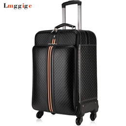 Wholesale Travelling Leather Suitcase - wheels Luggage,Women Bag with Rolling,PU Leather Commercial Suitcase,Men Soft Shell Travel Box with Password Lock