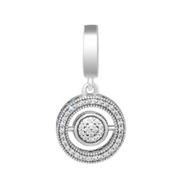 Se adapta a los encantos Pulseras Spinning Signature Beads con Clear CZ 100% 925 Sterling-Silver-Jewelry Envío gratuito desde fabricantes