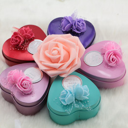 Heart shaped wedding decorations coupons promo codes deals 2018 korean creative decoration gift rose flower tin box heart shape candy boxes for wedding party favor junglespirit Gallery