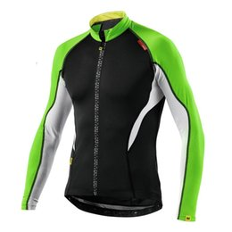 Wholesale Cycling Team Winter Jacket - 2016 Winter Cycling Jackets thermal fleece Team Bicycle Bike Cycling jersey MAVIC Anniversary Special Edition Long Sleeve Men ropa ciclismo