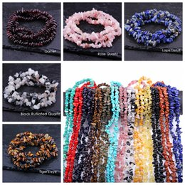Wholesale chip jewelry - 5-8mm Natural Turquoise Lapis lazuli Garnet Stone Beads Freeform Chip Loose Gravel Beads For Jewelry Making Necklace Bracelet