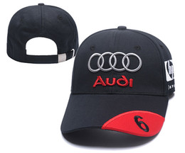 stylish ball caps Coupons - Audi baseball cap stylish hat adults golf embroidery snapback hood sport auto racing caps