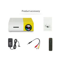2019 reproductor de video audio portátil YG300 LED Proyector portátil 400-600LM 3.5 mm Audio 320 x 240 píxeles YG-300 HDMI USB Mini proyector Home Media Player 2018 Caliente reproductor de video audio portátil baratos