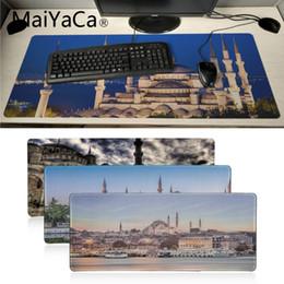 2019 almohadillas de mesa personalizados MaiYaCa Piel personalizada Estambul Turquía Casas Escritorio único Juego de almohadilla Mousepad computadora jugador Teclado mesa Estera jugador gamuza mousepad almohadillas de mesa personalizados baratos