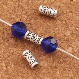 Wholesale Evil Eye Silver Charm - 800pcs lot Evil Eye Tube Beads Evil Eye Charm Bead Antique Silver Tubes L1796 7x3x3mm Jewelry DIY