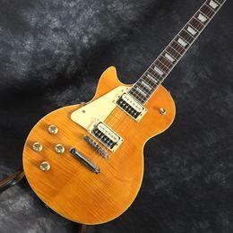 Livraison gratuite Exclusif personnalisé gaucher Bar électrique guitare rayé tigre couverture couleur acajou corps et manche en érable ? partir de fabricateur