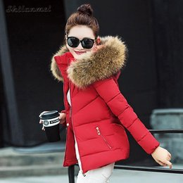 Wholesale fur coat quality - Fashion Winter Warm Fur Coat Female Slim Faux Fur Hooded Jackets Overcoat High Quality Women Cotton padded Jackets Outerwear