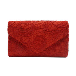 Wholesale gold prom handbags - xiniu New Arrival Women Elegant Floral Lace Envelope Clutch Evening Prom Handbag Fashion Style Small Purse Women Clutch