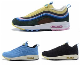 Wholesale vintage style fabrics - Maxs 1 97 VF SW Sean Wortherspoon PK 97 Vapormax Men's Running Shoes Vintage Style High Quality Indoor & Outdoor Sneakers with Shoebox