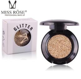 Manca la rosa all'ingrosso online-Miss Rose Brand Glitters Ombretto singolo Diamond Rainbow Make Up Cosmetico pressato Glitter Eye Shadow Palette 24 colori all'ingrosso