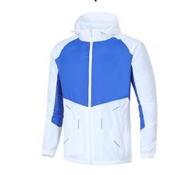 Wholesale organic coat - Brand tops Men Windrunner Jacket Thin Jacket Coat L--4XL SIZE Men Sports Windbreaker Jacket Explosion Men's Basketball Sport Hoodie tops