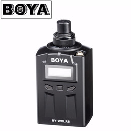 боя-микрофон Скидка BOYA BY-WXLR8 Plug-on XLR Audio Transmitter with LCD Display for BY-WM8 BY-WM6 Wireless Lavalier Microphone System