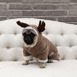 2019 traje de urso cão Roupas para animais de estimação Elk carregado inverno quente roupas para cães Teddy bear costume Halloween Pet Natal Dog Clothes Costume