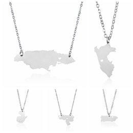 Perú Mapa del País Collar Colgante de Acero Inoxidable con Corazón de Amor Puerto Rico Guatemala Venezuela Jamaica Mujeres Hombres Joyas Al Por Mayor desde fabricantes