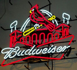 neon beer signs Coupons - T8 24*20 inches St Louis Cardinals Road Runner Beep Beer DIY Glass Neon Sign Flex Rope Neon Light Indoor Outdoor Decoration RGB 110V-240V